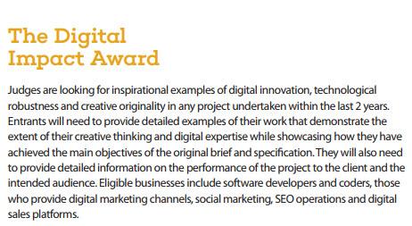 Burnley Business Award 2017 Digital Impact Award