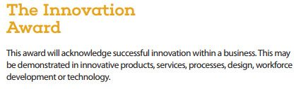 Burnley Business Award 2017 Innovation Award