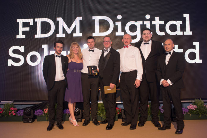 Burnley Business Awards 2017 Presenting FDM their Award - Digital Impact Award