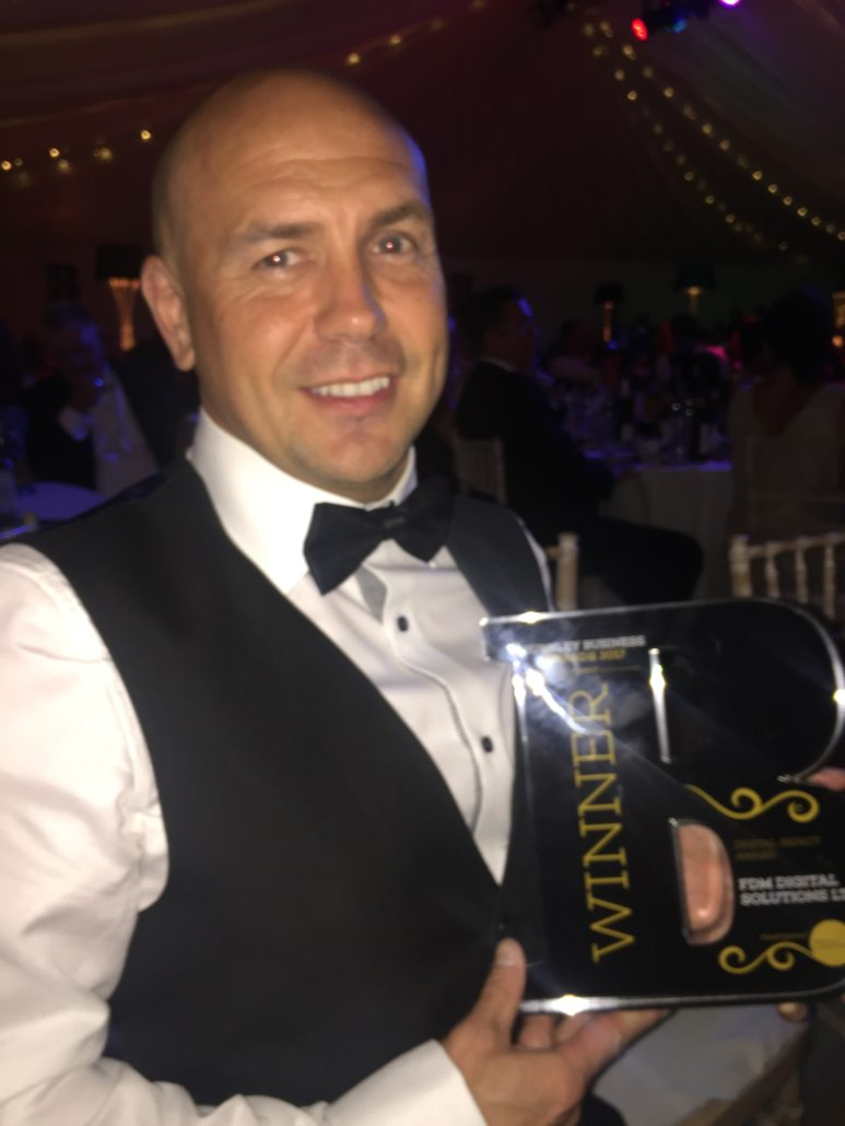 Burnley Business Awards 2017 Russell - Digital Impact Award